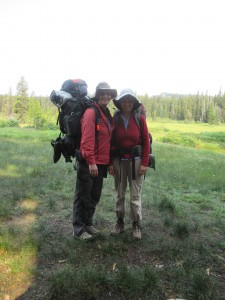 With friends and Jan, my back-packing-buddy sister, I hiked to Elk Lake on Mount Hood as a trial run.