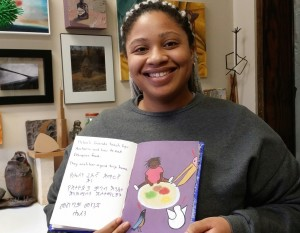 Daphne Nelson of Monmouth College created an easy-reader book for children in Ethiopia.